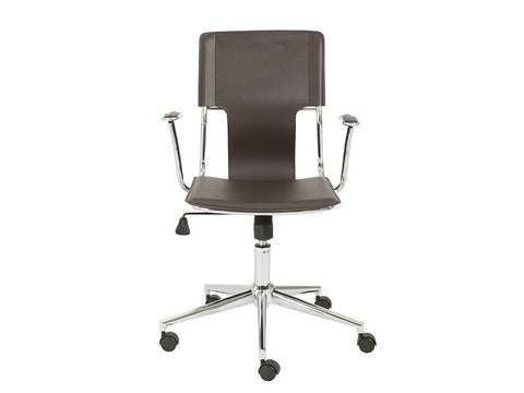 Terry Office Chair in Brown Leatherette design by Euro Style