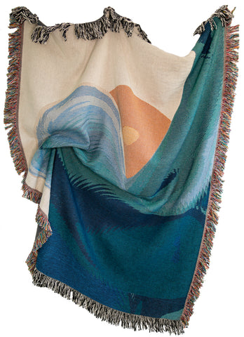 Tidal Woven Throw Blanket
