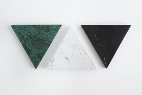 Triangle Stone Trivet in Green Marble design by FS Objects