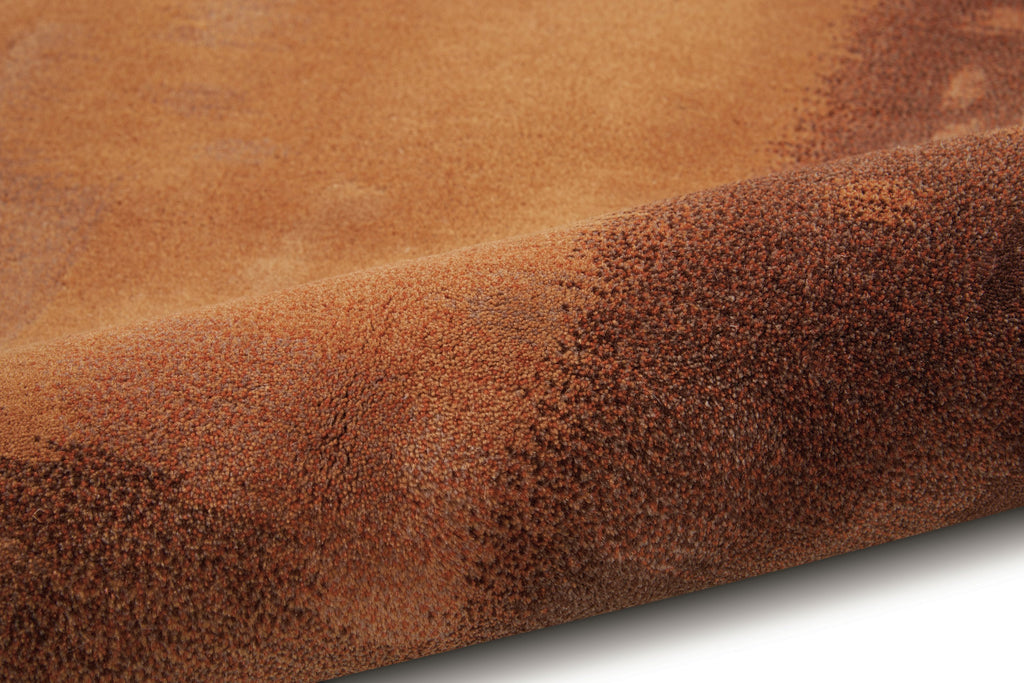 Luster Wash Amber Wash Copper Area Rug by Calvin Klein
