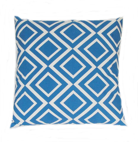 Indigo Diamonds Pillow design by 5 Surry Lane