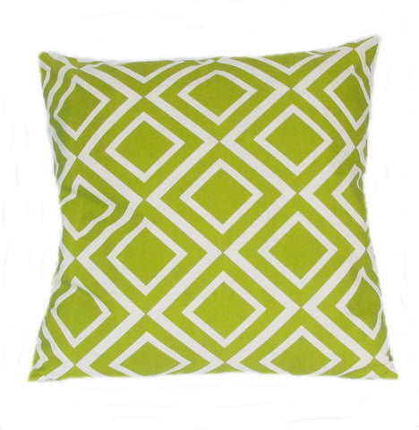 Green Diamonds Pillow design by 5 Surry Lane