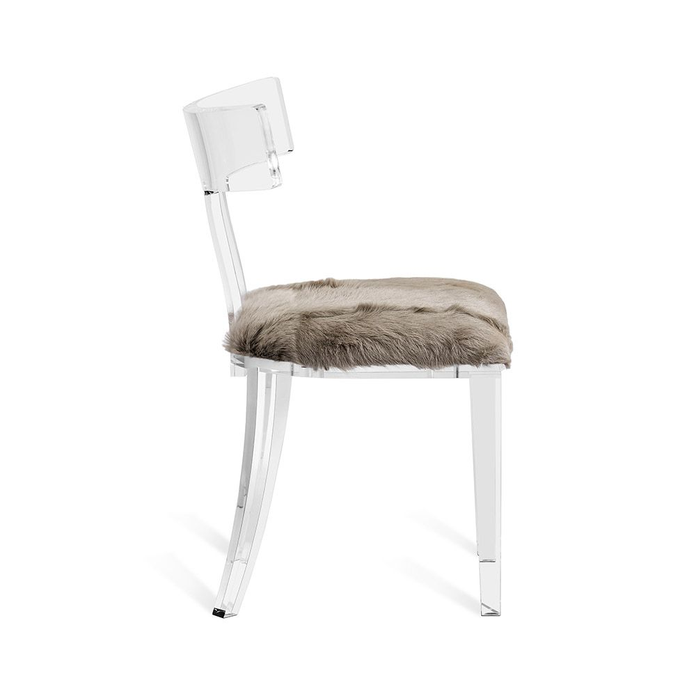 Tristan Acrylic Klismos Chair in Various Colors