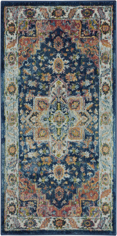 Ankara Global Rug in Blue/Multicolor by Nourison