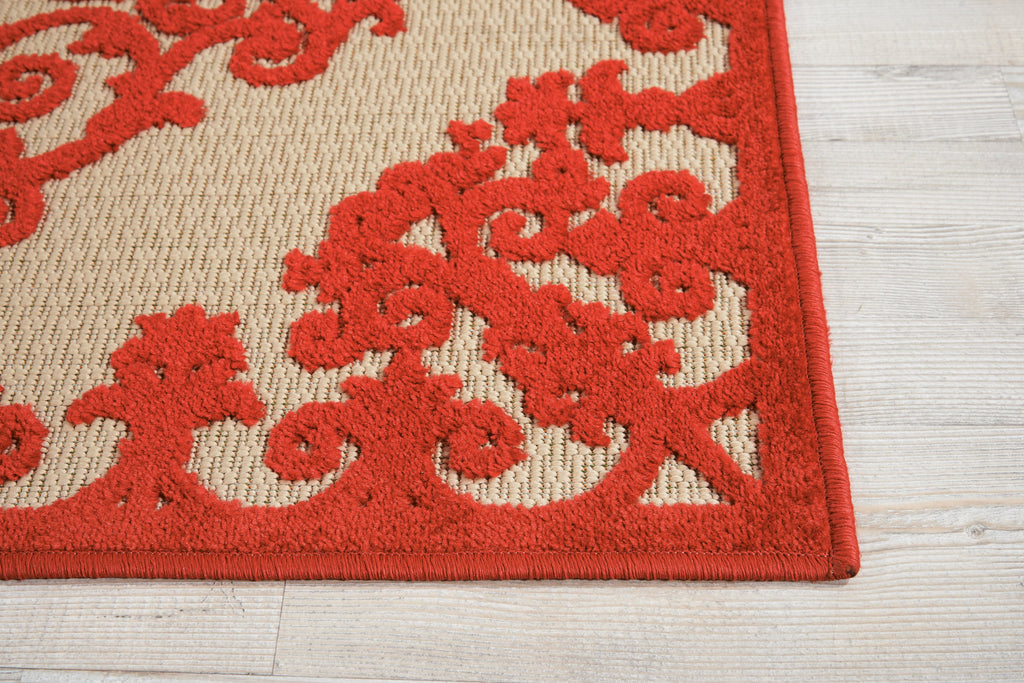 Aloha Indoor-Outdoor Rug in Red by Nourison