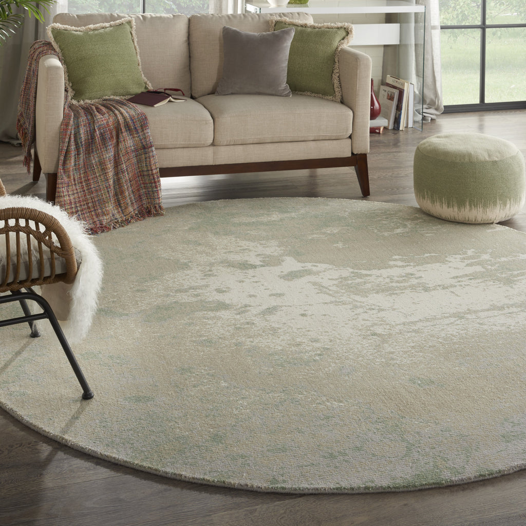 Twilight Rug in Ivory & Green by Nourison