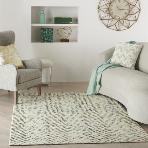 Colorado Rug in Ivory & Green by Nourison
