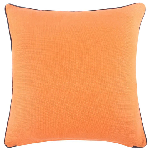 "Orange Reversible Solid Pillow 22""x22"""