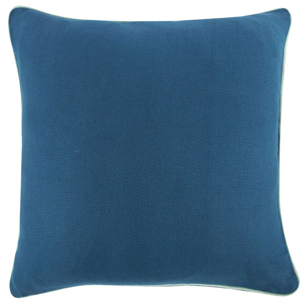 "Blue Reversible Solid Pillow 22""x22"""