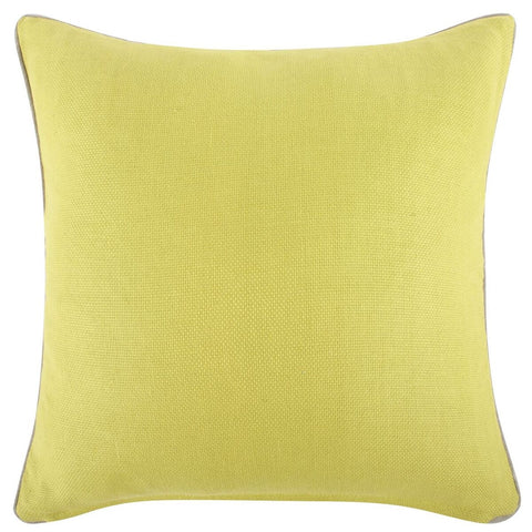 "Yellow Reversible Solid Pillow 22""x22"""
