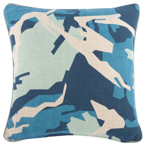 "Daisy/Camo Pillow 18""x18"" design by Thomas Paul"