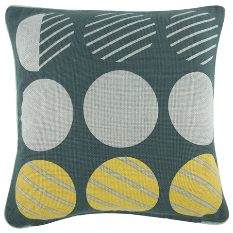 "Bloomsbury/Dots Pillow 18""x18"""