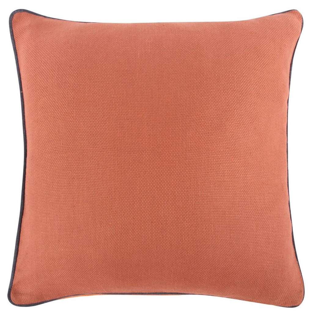 "Orange Reversible Solid Pillow 22""x22"" design by Thomas Paul"