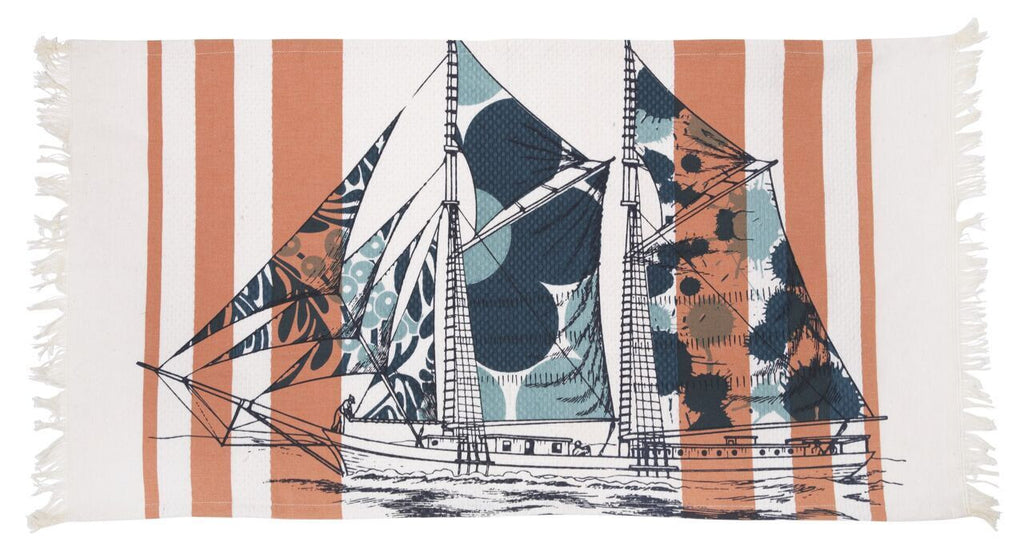 Dazzle Ship Hand Towel design by Thomas Paul
