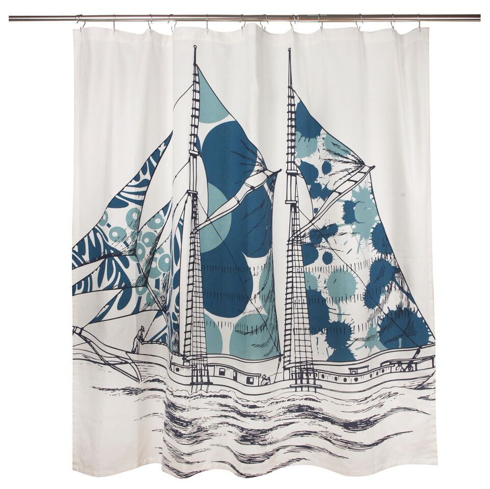 Dazzle Ship Shower Curtain design by Thomas Paul