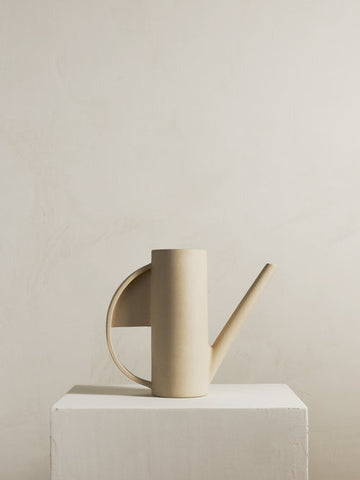 HADRON Ceramic Watering Can in Sand design by Light + Ladder
