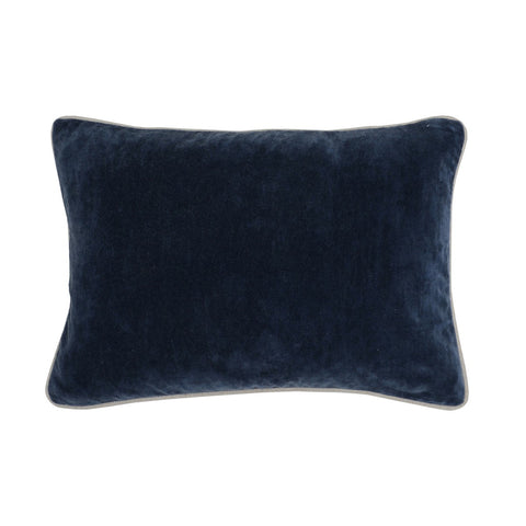 Solid Heirloom Pillow in Velvet Navy design by Classic Home
