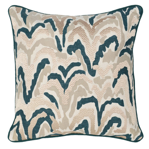 Social Vista Paige Pillow in Natural Mallard design by Classic Home