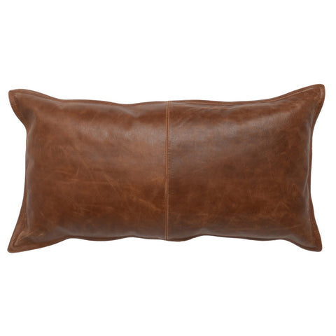 Leather Kona Brown Pillow