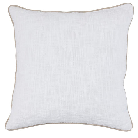 Alba White Pillow