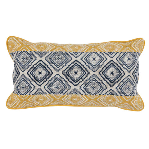 Florence Sunflower/Navy Pillow