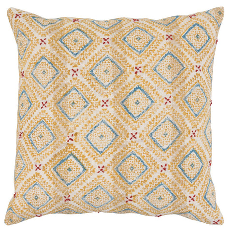 Salina Sunflower Parisian Blue Pillow