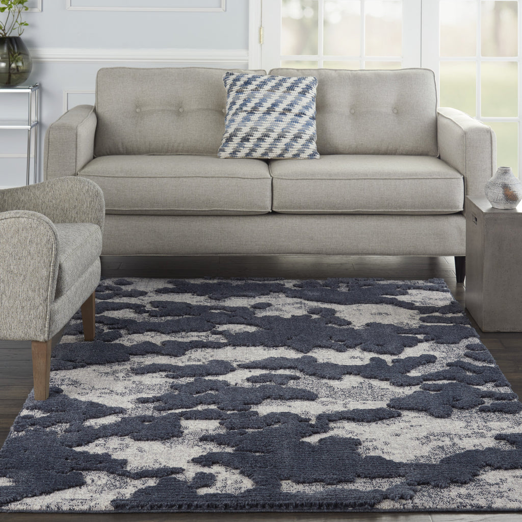 Zermatt Rug in Blue/Grey by Nourison