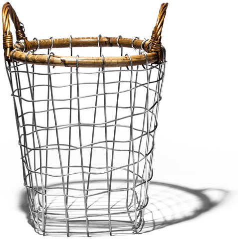 Rattan Top Wire Basket - Small
