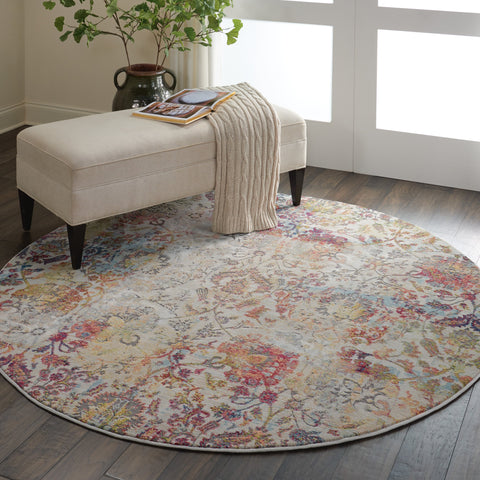 Ankara Global Rug in Ivory/Orange by Nourison