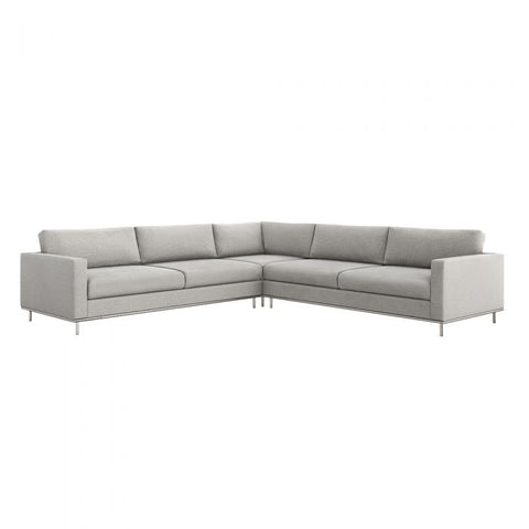 Valencia 3 Piece Sectional in Grey