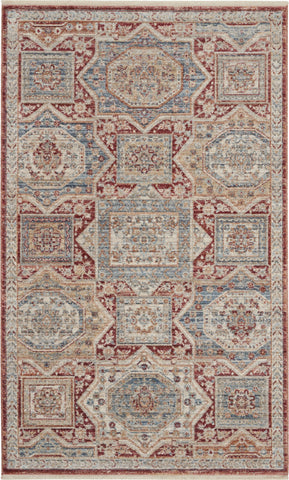 Homestead Rug in Blue/Brick by Nourison