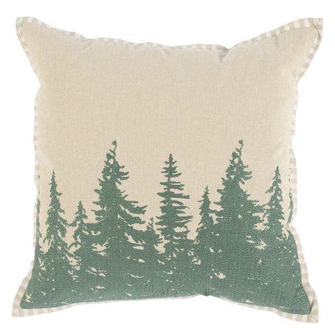 Tree Silhouette Natural Pillow