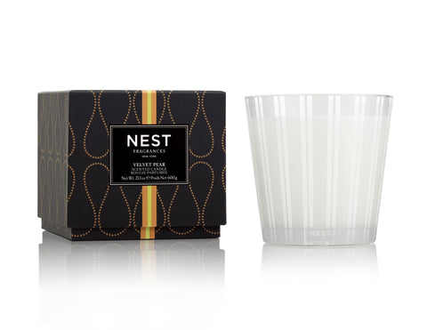 Velvet Pear 3 Wick Candle design by Nest Fragrances