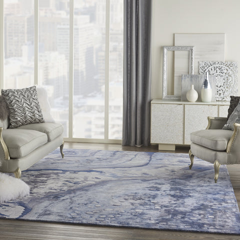 Prismatic Rug in Blue by Nourison