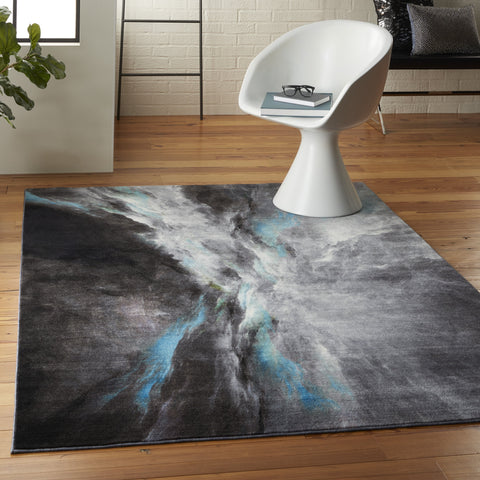 Le Reve Rug in Charcoal/Multicolor by Nourison