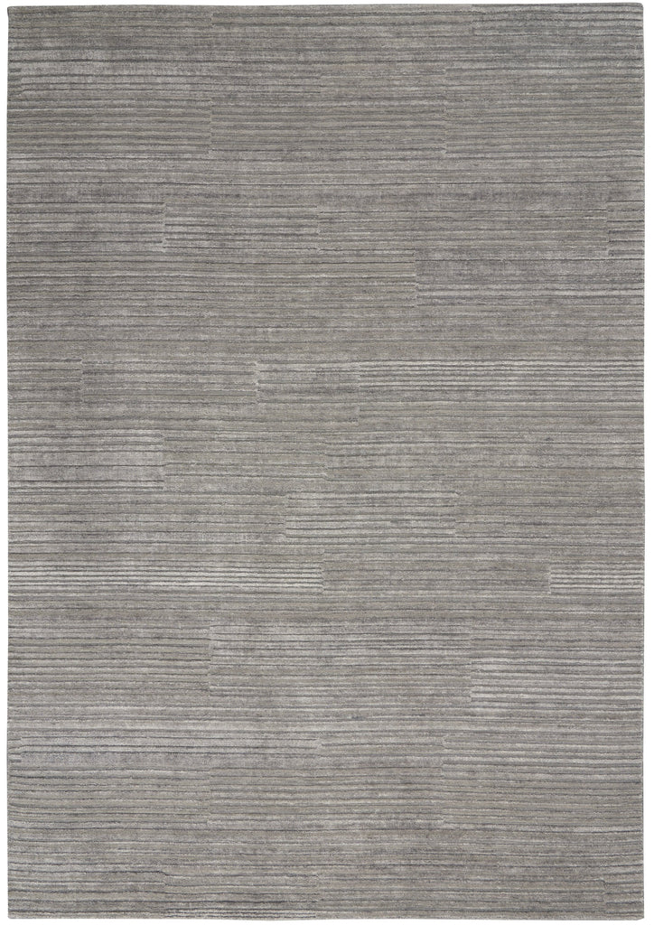 Abyss Rug in Silver Grey by Calvin Klein