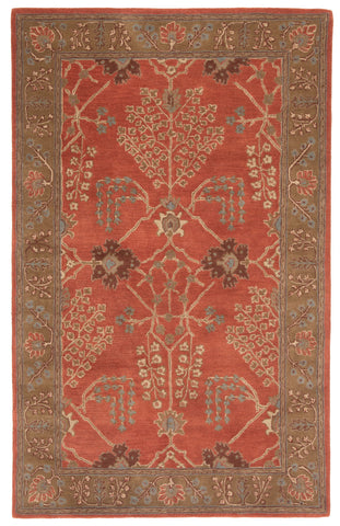 Chambery Handmade Floral Orange/ Brown Area Rug by Jaipur Living