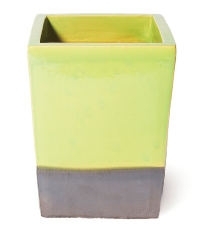 Ceramic Cube Planter in Various Colors by BD Outdoor