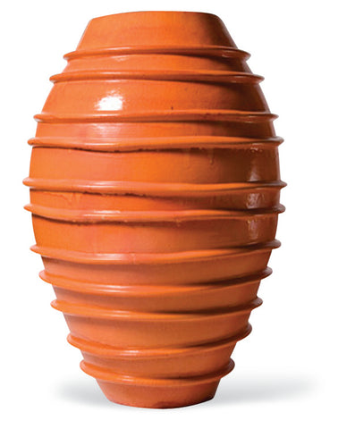 Ceramic Helter Skelter Vase in Various Colors by BD Outdoor