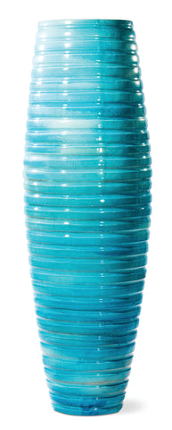 Ceramic Ribbon Vase in Various Colors by BD Outdoor