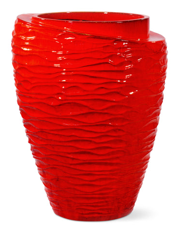 Ceramic Tranche Vase in Various Colors by BD Outdoor