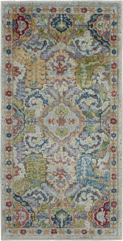 Ankara Global Rug in Grey/Multicolor by Nourison