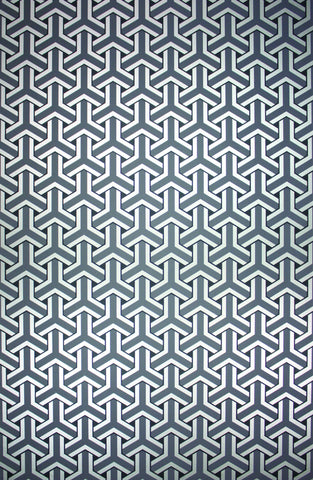 Trifid Wallpaper in Paynes Grey Color