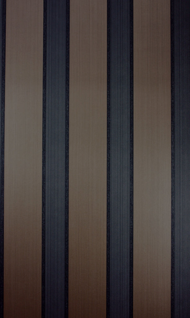 Sample Portland Wallpaper in black and brown from the Strand Collection by Osborne & Little