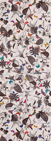 Bird Song Wallpaper in brown from the Verdanta Collection by Osborne & Little