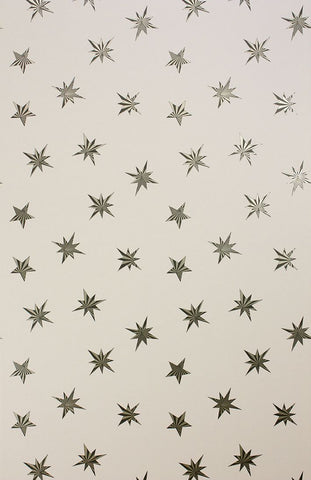 Sirius Wallpaper in tan from the Belvoir Collection by Matthew Williamson