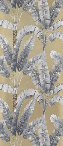 Palmaria Wallpaper in beige and gray from the Manarola Collection by Osborne & Little