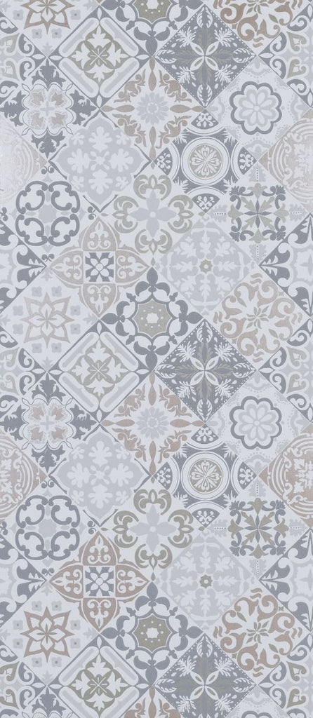 Cervo Wallpaper in gray from the Manarola Collection by Osborne & Little