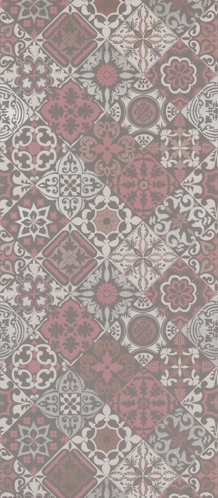 Cervo Wallpaper in red and brown from the Manarola Collection by Osborne & Little