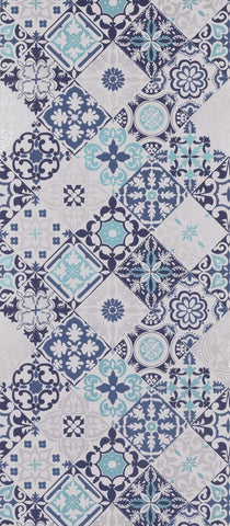 Cervo Wallpaper in blue and turquoise from the Manarola Collection by Osborne & Little